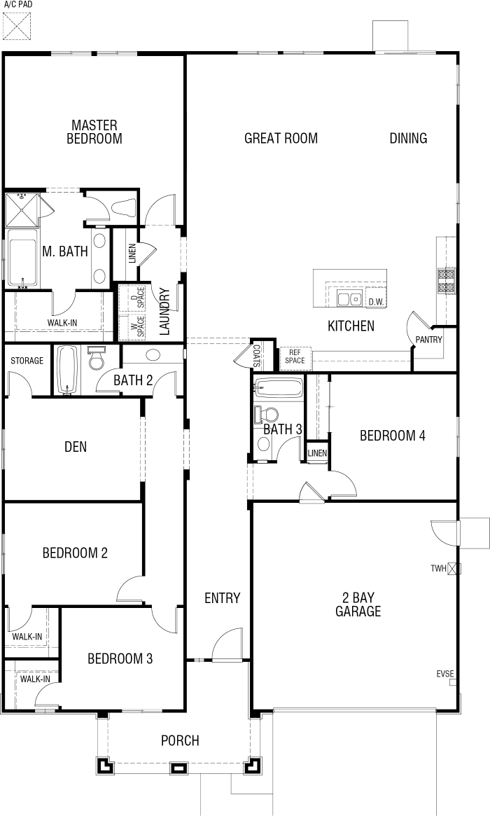 Tribute Floor plan Residence 2474 Single Floor