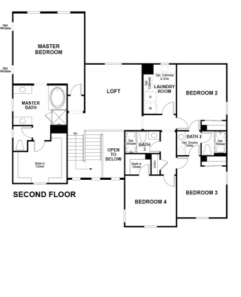 Valor Floor plan Residence Daley Second Floor