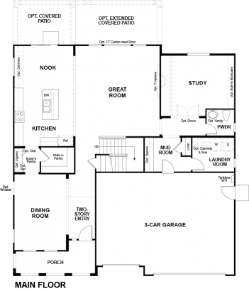 Valor Floor plan Residence Dillon II First Floor