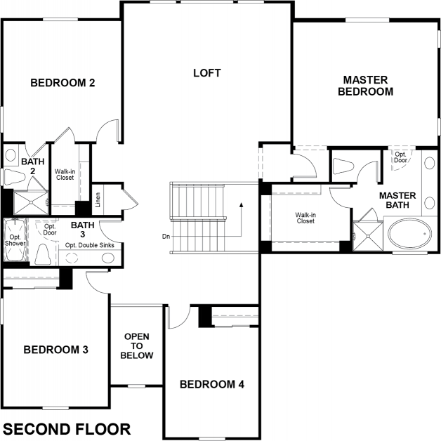 Valor Floor plan Residence Dillon II Second Floor