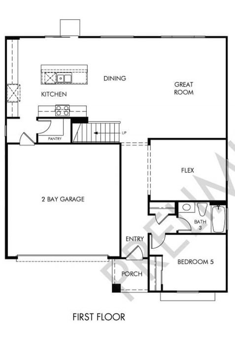 Jasper Floor plan Residence 5 First Floor