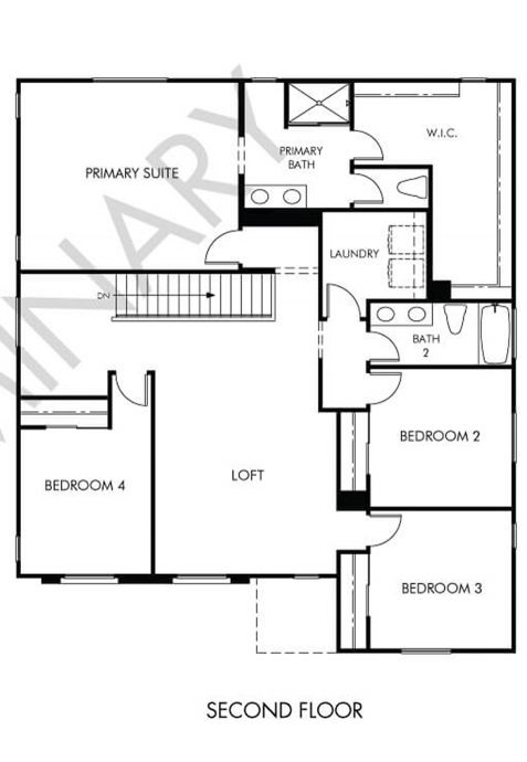 Jasper Floor plan Residence 5 Second Floor