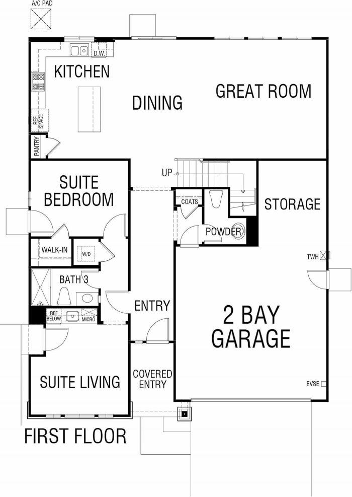 Saddlewood Floor plan Residence 2435 First Floor