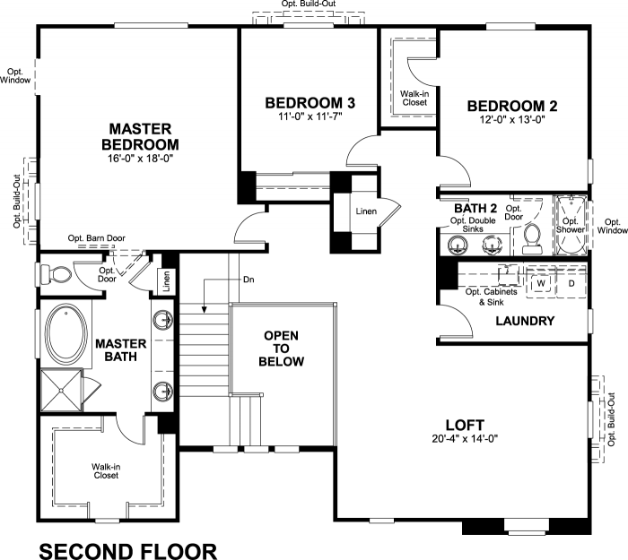 Valor Floor plan Residence Thomas Second Floor
