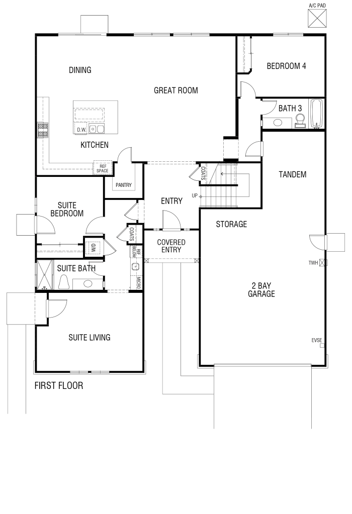 Tribute Floor plan Residence 3124 First Floor