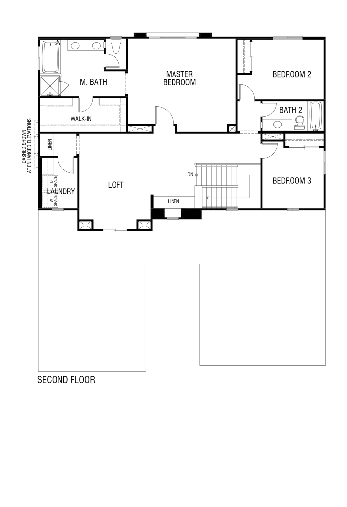 Tribute Floor plan Residence 3124 Second Floor