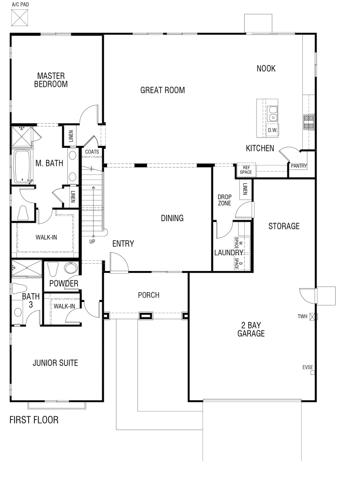 Tribute Floor plan Residence 3172 First Floor