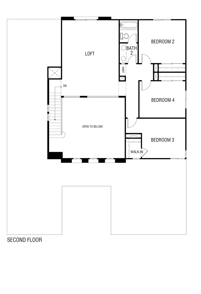 Tribute Floor plan Residence 3172 Second Floor