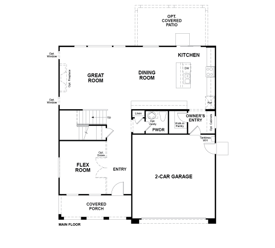 Vaquero Floor plan Residence Hemingway First Floor