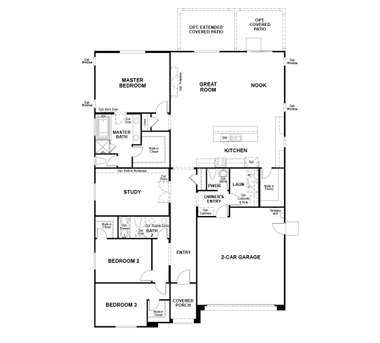 Vaquero Floor plan Residence Timothy Single Floor