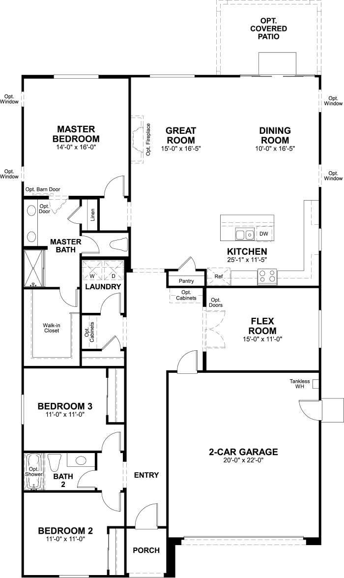 Vaquero Floor plan Residence Agate Single Floor