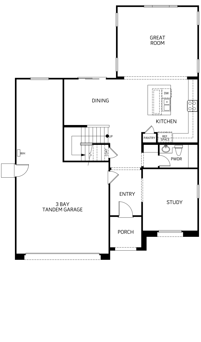 Dakota Floor plan Residence 2 First Floor
