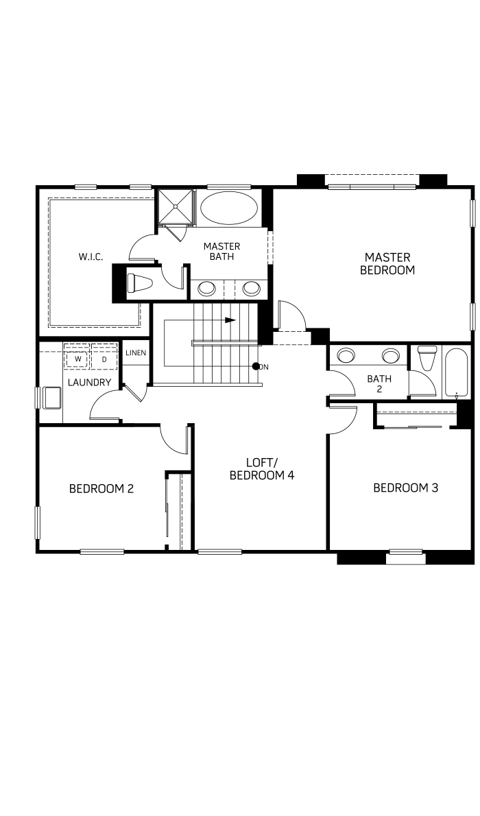 Dakota Floor plan Residence 2 Second Floor