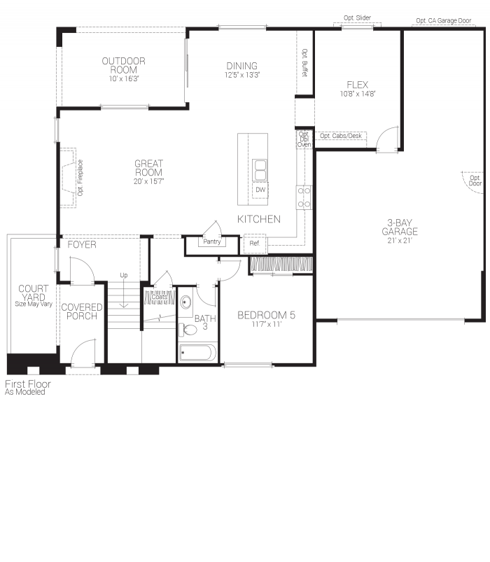 Savannah Floor plan Residence 3 First Floor