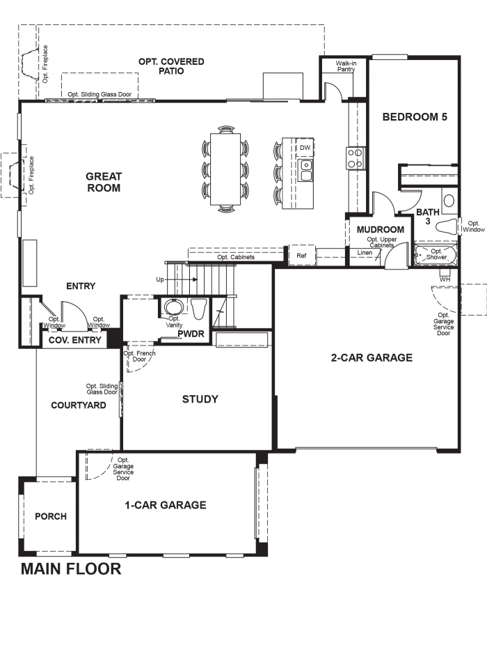 The Ridge Floor plan Residence Palmer First Floor
