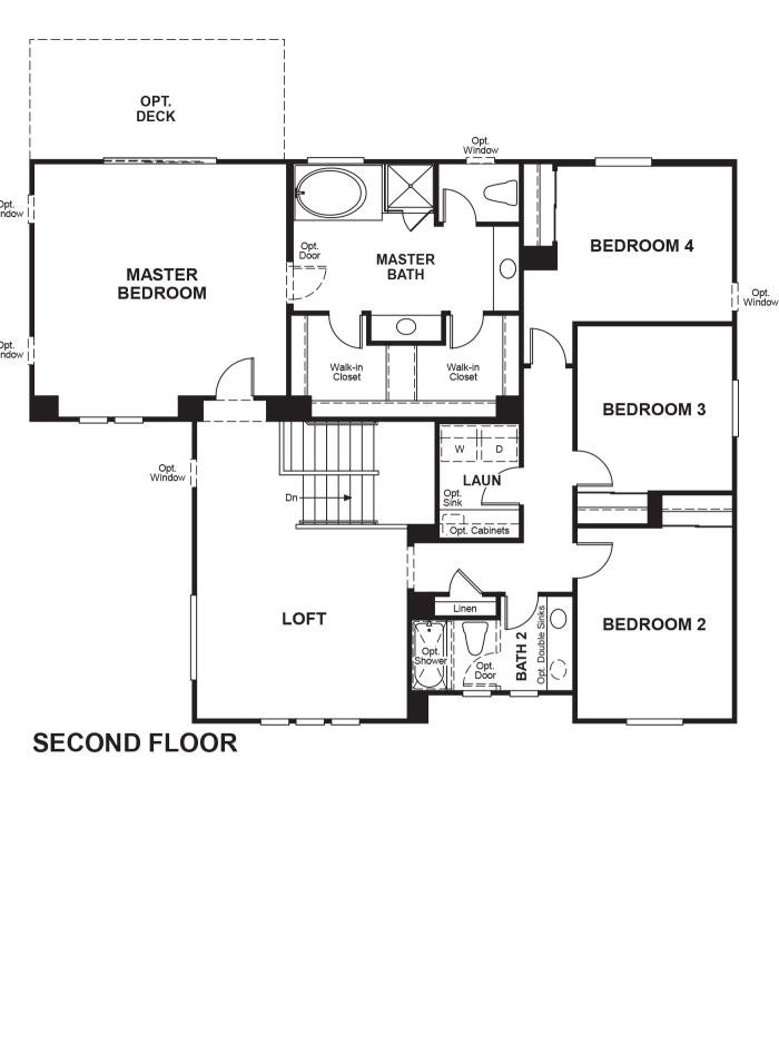 The Ridge Floor plan Residence Palmer Second Floor