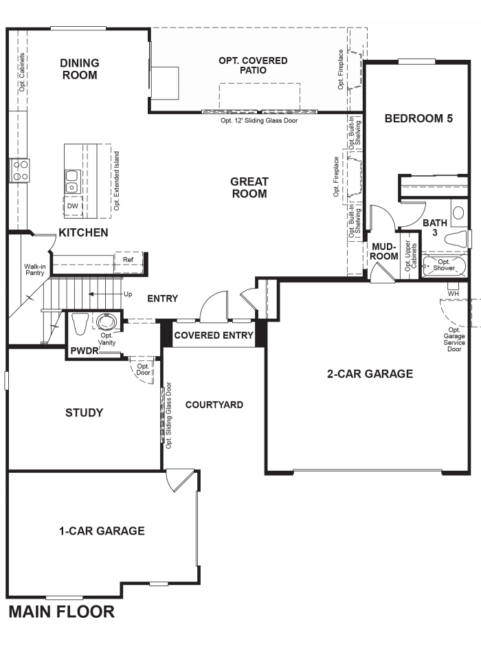 The Ridge Floor plan Residence Perry First Floor