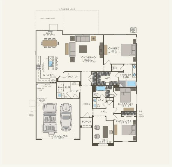 Hacienda Floor plan Residence Coventry Single Floor
